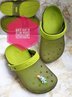 AUTHENTIC JELLY CROCS J2 PRELOVED