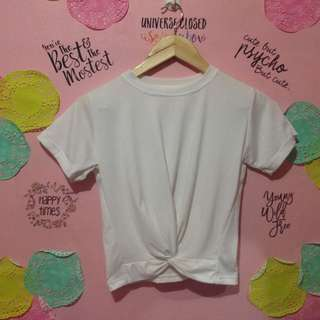 Twisted Knot Top in White