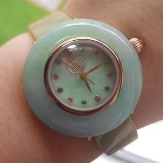 Grade A myanmar jade watch with cert 满身A翡翠 种色兼具