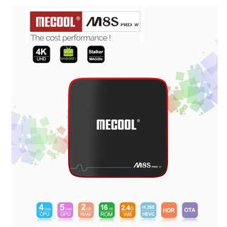 🚚 MECOOL M8S PRO W Android TV OS 2GB/16GB S905W 4K TV Box with Voice Remote IPTV Support KODI WIFI LAN H.265 HDR