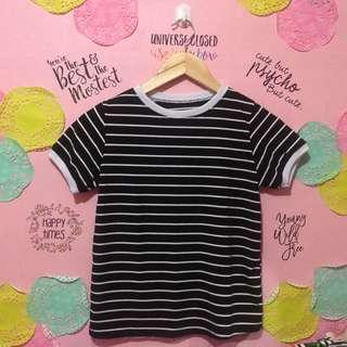 Basic Stripe Top in Black & White