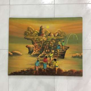Bali style oil painting on canvas