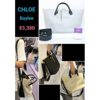 90% New CHLOE Baylee 灰色 黑色 金鏈 牛皮 肩背袋 斜揹袋 手袋 Marshmallow Grey Black Handbag with Gold Hardware