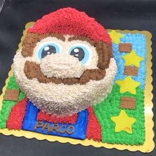 Super Mario 蛋糕 三磅