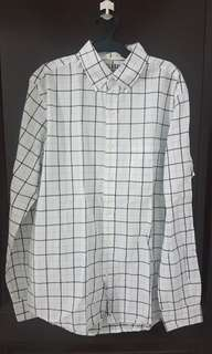 Old Navy White Longsleeves Polo