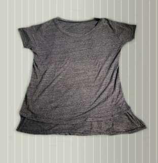 Gray long back shirt