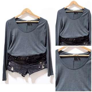 Long sleeves shirt ➖gray
