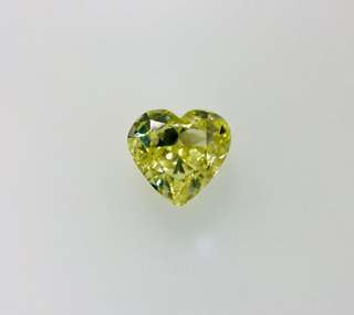 GIA 1.00 Heart Shape Fancy Yellow