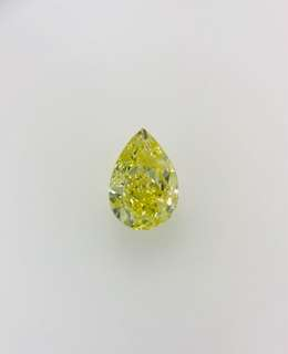 GIA 1.00 Pear Shape Fancy Yellow