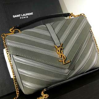 YSL Sling Bag Grey Color