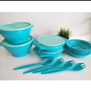 Tupperware Joy Keeper Set with plate 8pcs