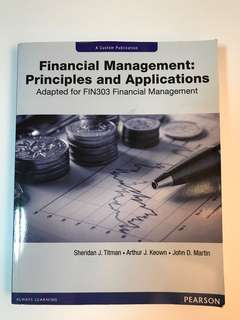 Financial Management: Principal and Applications