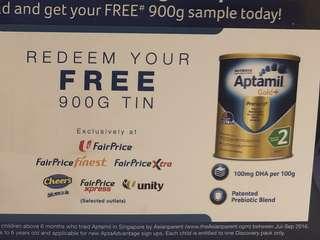 FTO Aptamil Gold+ Stage 2 (900g) Redemption Voucher