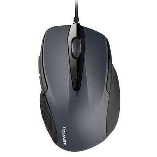 991. TeckNet 6-Button USB Wired Mouse with Side Buttons, Optical Computer Mouse with 1000/2000DPI, Ergonomic Design, 5ft Cord, Support Laptop Chromebook PC Desktop Mac Notebook