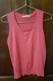G2000 Pink Sleeveless Knitted Top