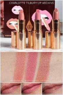 Charlotte tilbury's lip archieve three limited edition lipsticks