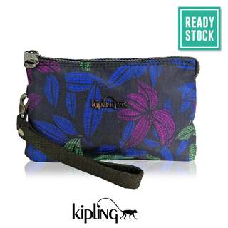 AUTHENTIC KIPLING CREATIVITY POUCH (ORCHID GARDEN) *READY STOCK (KP050)