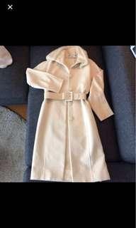 Versace white/cream fur coat - as good as new (EU 40)