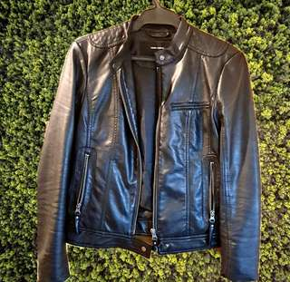 leather jacket vero moda