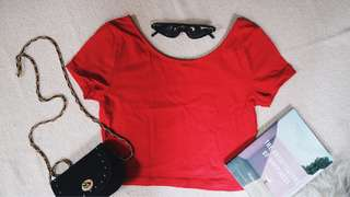 Hot Red Crop Top From Forever 21