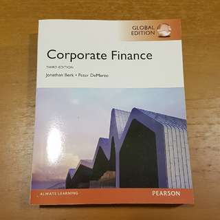 Corporate Finance 3rd Ed