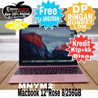 "MacBook-MNYM2-Rose-12""/8/256GB Cash/Kredit Dp 4jt ditoko ktp+kk call/wa;081905288895"