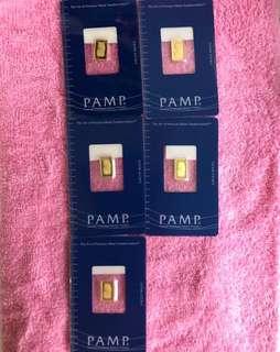 PAMP - Pure Gold Bar (1 gram)