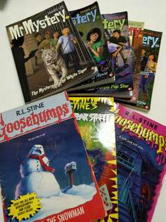 5 Mr Mystery and 3 Goosebumps