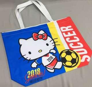 Kitty世足橫式手提補習袋
