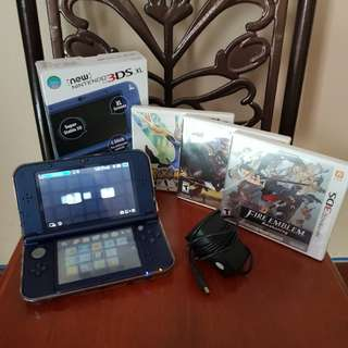 modded new 3ds xl n3dsxl fullbox
