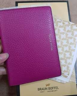 Braun buffel passport case