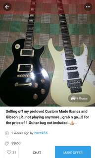 PSA! Fake Ibanez and Gibson Electric Guitars!