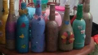 Handmade decorated bottle