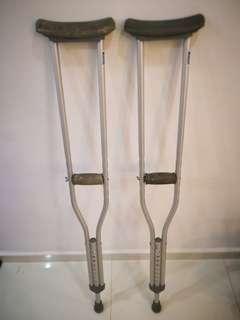 Crutches.. Walking aid..