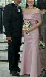 Gown old rose (pink ) reprice
