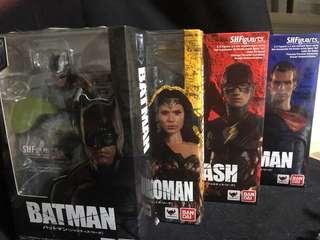 SH Figuarts SHF DC Justice League Batman + Wonder Woman + Flash + Superman