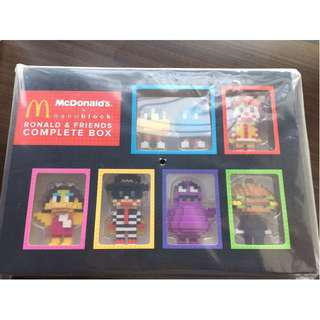 McDonalds 2016 x Nanoblock Ronald & Friend complete box set