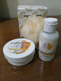 BN Body Shop Almond Milk & Honey Shower Cream (60 ml) & Body Butter (50 ml)