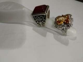 Citrine n ruby ring