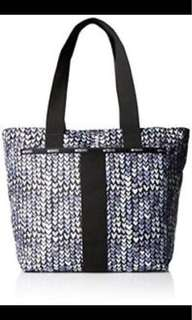 LESPORTSAC painted blue heart everyday tote bag large