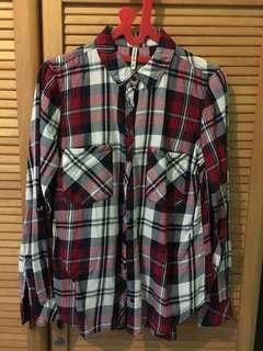 Stradivarius plaid shirt