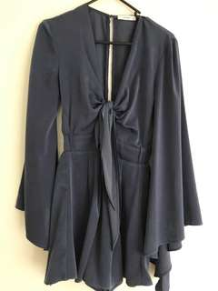 Sheike Navy Blue Playsuit