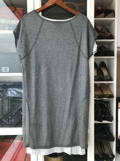 Sara Coleman Grey Basic Knit Dress