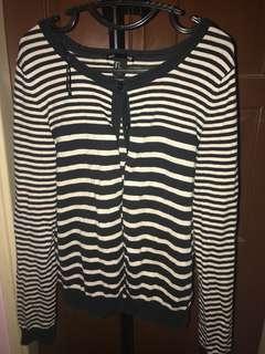 H&M Stripe Cardigan