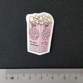 C11 Popcorn Watercolour Sticker Stickers