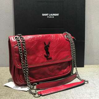 Saint Laurent Niki Chain Bag Red Color
