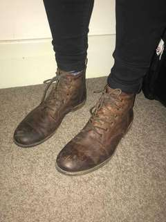 Windsor smith brown boots lace up