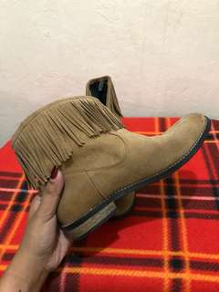 H&M Brown Suede Leather Boots Women