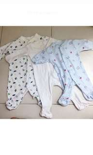 3 for RM25 Sleepsuit/Jumpsuit (Newborn)