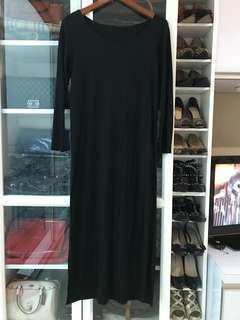 Long Simple Black Dress